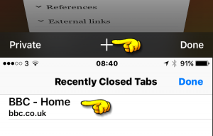 Reopen Closed Tabs