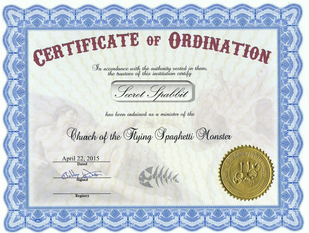 FSM Ordination - Secret Spabbit