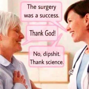 Don't thank religion - thank Science!